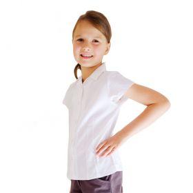 organic cotton white  school blouse